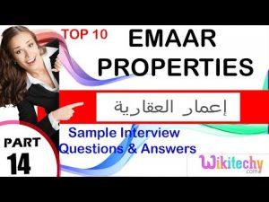 emaar properties top most technical interview questions and answers  شركة إعمار العقارية